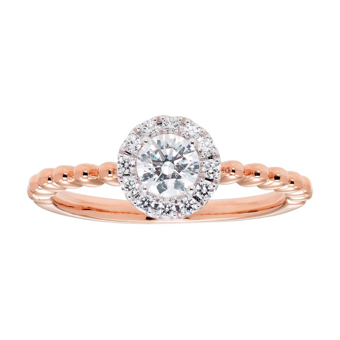 ¾ carat Diamond Engagement Ring in 14k Rose Gold